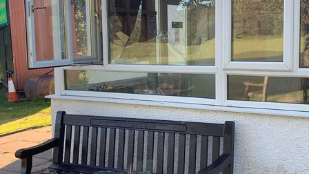 Vandals smashed windows on Wednesday evening. Picture: Dean Stewart