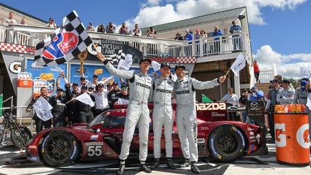 Harry Tincknell with his team after their New York success. Picture HARRY TINCKNELL