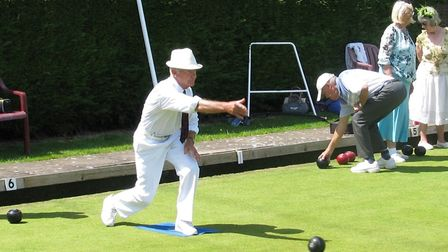 Action from Ottery bowls. Picture OBC