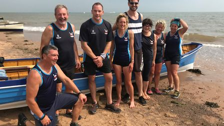The Sidmouth Gig Club mixed crew at the Exmouth Regatta. Picture:SGC