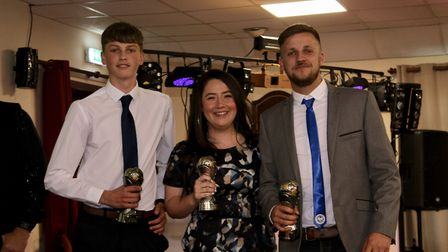 The Ottery St Mary Football Club Manager's Player of the Year award winners. Picture: HANANH LAND
