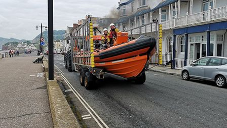 Sidmouth Lifeboat prepares to launch. Picture: Ian Lange