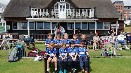 Sidmouth Under-10s who are enjoying what is,for many of them, their fiirst experience of hard ball c