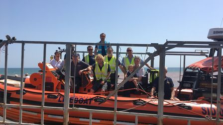 The lifeboat crew aboard the boat. Picture: Clarissa Place