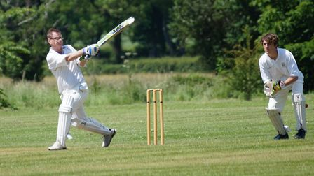 Dave Jessop hits out for Tipton St John. Picture PHIL WRIGHT