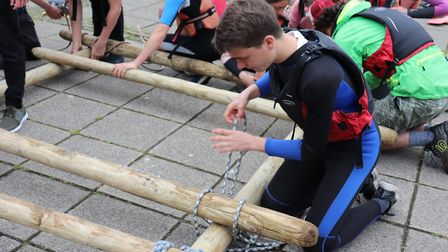 Sidmouth College students enjoyed a fun day at Haven Banks as part of a legacy pledge. Picture: Char