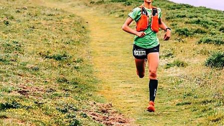 Sidmouth Running Club's Kirsteen Welch on her way to a secodn place finsh at the 2019 'The Beat' mee