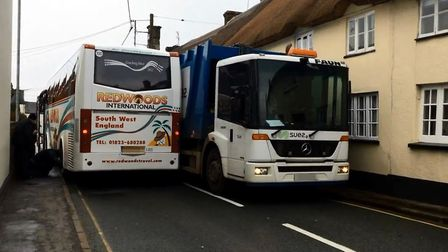 Traffic jam in Sidbury. Picture: Marianne Rixson
