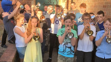 Brass Class, the training band for Ottery Silver Band. Picture: Supplied by band