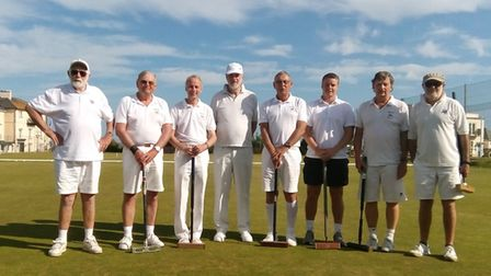 The Sidmouth 'Parkstone' A Team were narrowly beaten by Bath (Left to right) Roger Hayes, Chris Dono