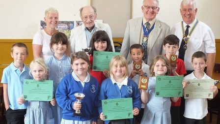 All of the schools that took part in the Rotary Club of Sidmouth annual gardening competition. Pictu