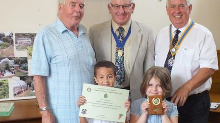 Sidmouth Primary School were among the winners at the Rotary Club of Sidmouth annual gardening compe