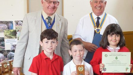 Seaton Primary School were among the winners at the Rotary Club of Sidmouth annual gardening competi