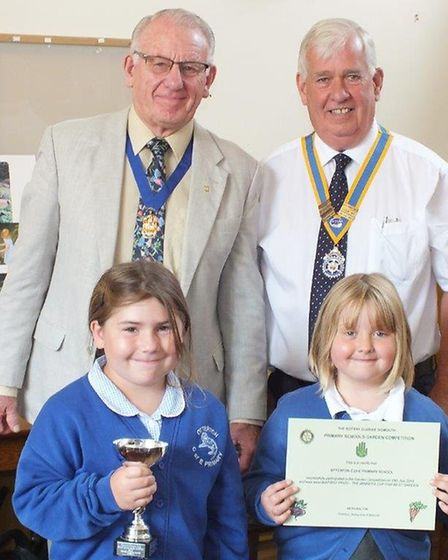 Otterton Primary School were among the winners at the Rotary Club of Sidmouth annual gardening compe