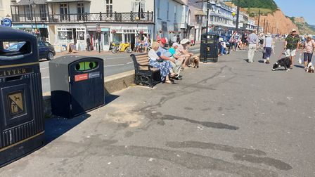 Stains on Sidmouth Esplanade will be assessed and cleaned 'as required'. Picture: Terry Ife