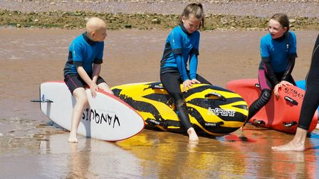 Primary school children learn about water safety. Picture: Sarah Burston