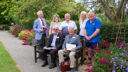 Beer in Bloom host judges Bob Sweet and John Goulden to Beer. Ref mha 29 19TI 8335. Picture: Terry I
