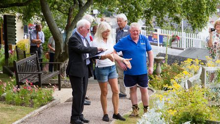 Beer in Bloom host judges Bob Sweet and John Goulden to Beer. Ref mha 29 19TI 8319. Picture: Terry I