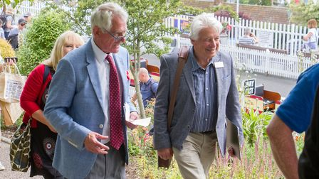 Beer in Bloom host judges Bob Sweet and John Goulden to Beer. Ref mha 29 19TI 8316. Picture: Terry I