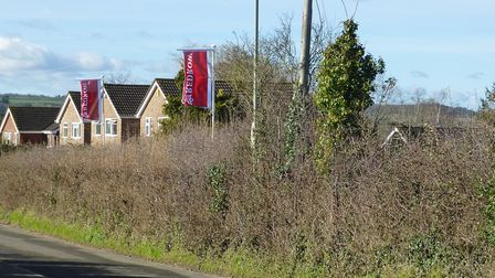 The land behind Butts Road after a succesful appeal to put 130 homes on the site in 2013.