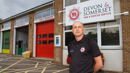 Sidmouth Fire Station Commander Steve Fowler. Ref shs 31 19TI 9461. Picture: Terry Ife