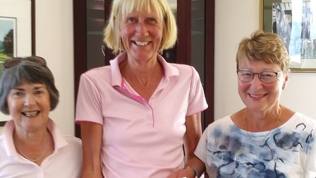 Two members of the team that were runners-up at the Sidmouth Lady Captain's Day (left to right) Lady