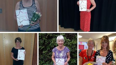 Sue Woodward, Beverley Wilkins-Wall, Rita Smith, Gill Turbitt and Alison Atkin are all Slimming Worl