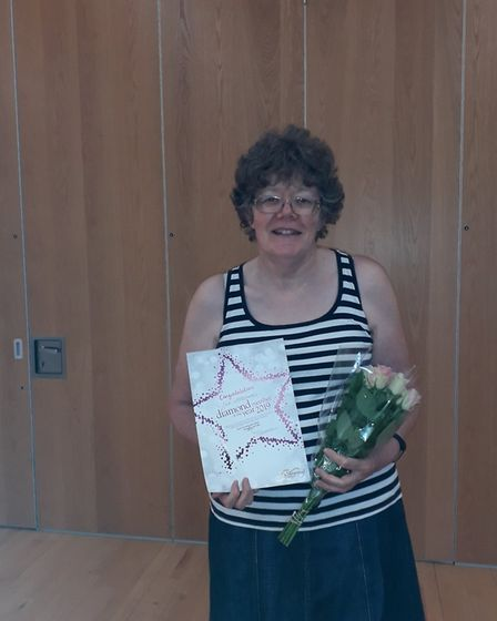 Sue Woodward was named one of Sidmouth's diamond members, Picture: Sidmouth Slimming World