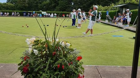 Action from the Devon ladies' versus Worcestershire ladies' at Ottery St Mary Bowls Club. Picture MI
