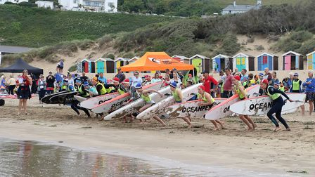 Action from the Surf Life Saving Devon Championships. Picture SIMON HORN