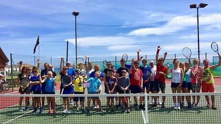 Players at the 2019 Sam Marriott Memorial Cup competition run by Sidmouth Tennis Club Picture SIDMOU