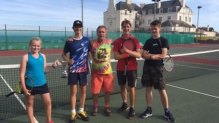 The winners of the 2019 Sam Marriott Memorial Cup competition run by Sidmouth Tennis Club Picture SI