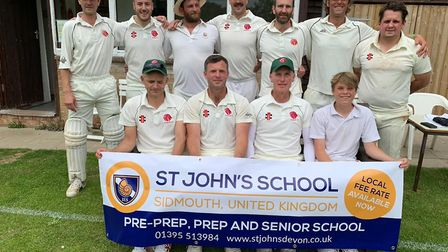 Sidbury CC before their latest Tolchards League H Division East success - a 10th straight victory th