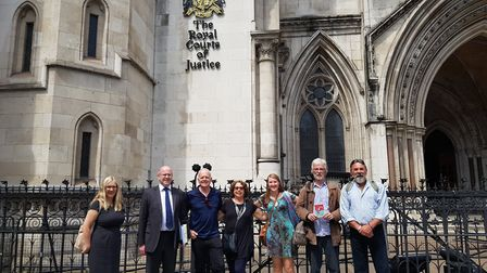 Members of the Seahorse Trust and legal team made their case to the Royal Courts of Justice. Picture