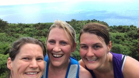 Sarah Sullivan, Ruth Ray and Jemma Wiltshire took on 'Ted's marathon' to raise money for charities s
