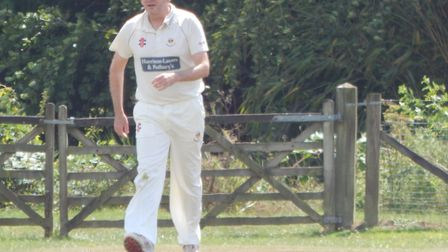 Sidmouth Cricket Club chairman Fionn Wardrop fielding for the 3rd XI in the meeting with Bradninch I
