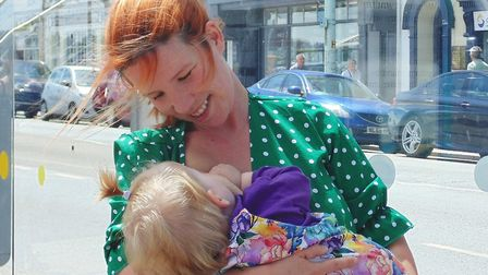 A campaign urging businesses to be positive about breastfeeding has been launched across Devon. Pict