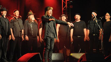 The Spooky Men's Chorale at the Ham Marquee. Picture: Paul Strange