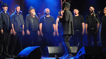 The Spooky Mens Chorale at the Ham Marquee. Picture: Paul Strange