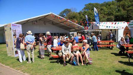 Relaxing on the Ham during the festival. Picture: Sidmouth Folk Festival