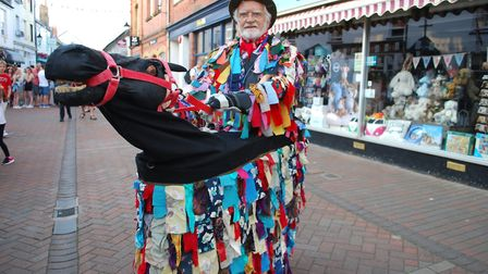 The crowds were entertained in the Market Place Thursday night with Great Western Morris Dancers fro