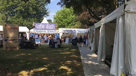 A range of stalls selling crafts, food and other items can be found in Blackmore Gardens. Picture: C