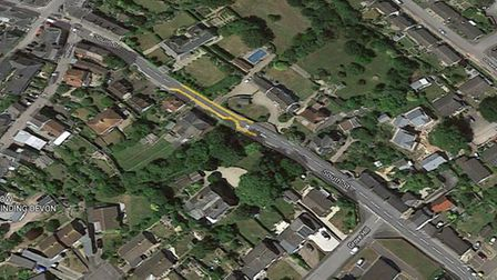 The proposed 'no waiting at any time' restriction for South Street in Colyton. Picture: Google
