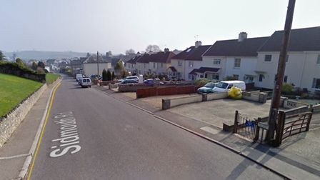 The proposed 'no waiting at any time' restriction for Sidmouth Road in Colyton. Picture: Google