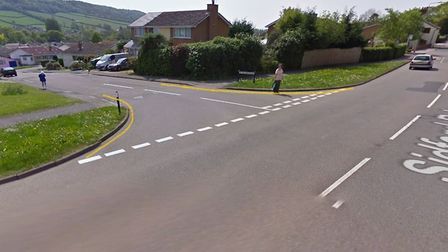 The proposed 'no waiting at any time' restrictions for Malden Road in Sidmouth. Picture: Google Maps