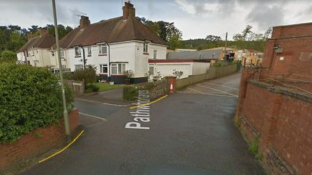 The proposed 'no waiting at any time' restrictions for Pathwhorlands in Sidmouth. Picture: Google Ma