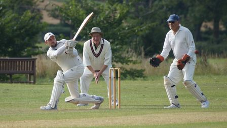 Tipton batsman Dave Thayre in action during the game against Geriatrics. Picture: PHIL WRIGHT