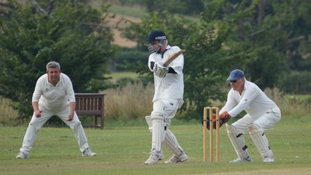 Tipton batsman Jem Gillham in action during the game against Geriatrics. Picture: PHIL WRIGHT