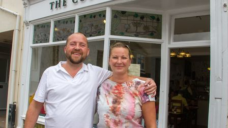 Shane Hudson and Gail Smee, new owners of The Courtyard. Ref shs 32 19TI 9869. Picture: Terry Ife