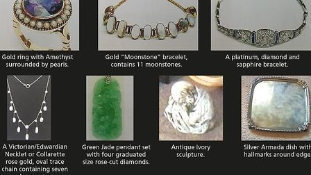 Devon and Cornwall Police have released photos of some of the items taken. Picture: Devon and Cornwa